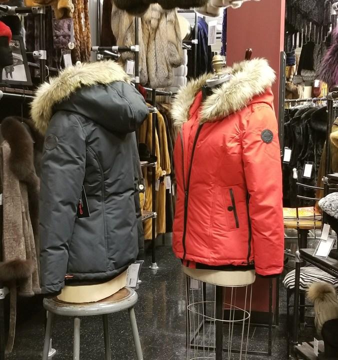 Poly Filled Parka Faux Fur Trim