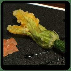 常盤屋 地物花ズッキーニの天ぷら