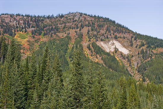 McClatchie Ridge. To be hauled away and/or part of mine dump. Copyright Ralph Maughan
