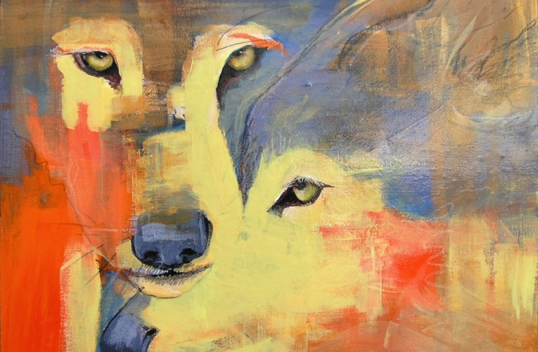 Artist Diana J Smith Series Combines the New Mexico Landscape & Wild Wolf…