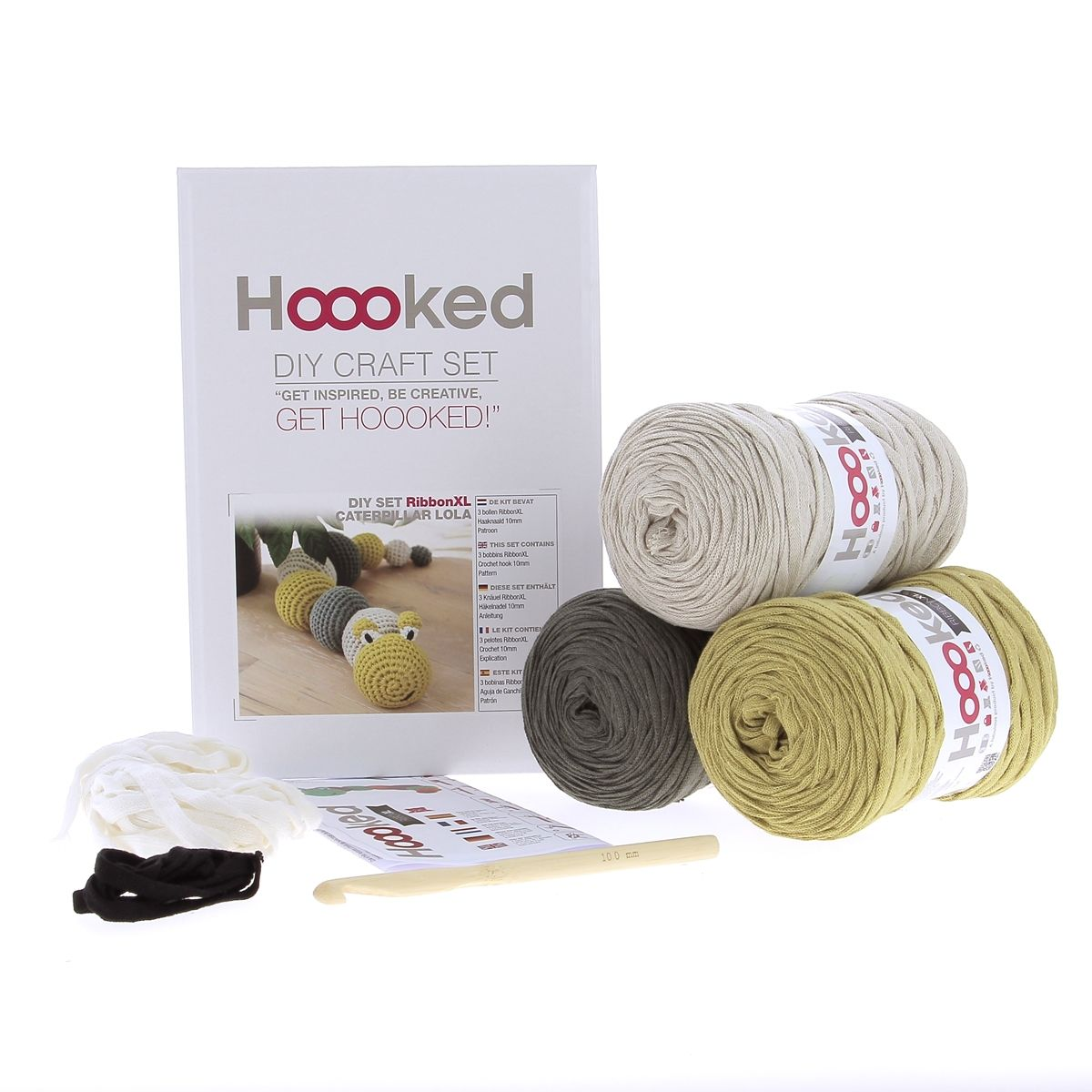 DIY Haakpakket RibbonXL Caterpillar Lola Hoooked 4