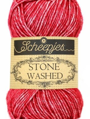 wolzolder Scheepjes Stone Washed - 807 -Red Jasper