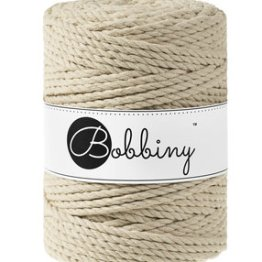 Bobbiny triple twist 5mm Wolzolder Beige