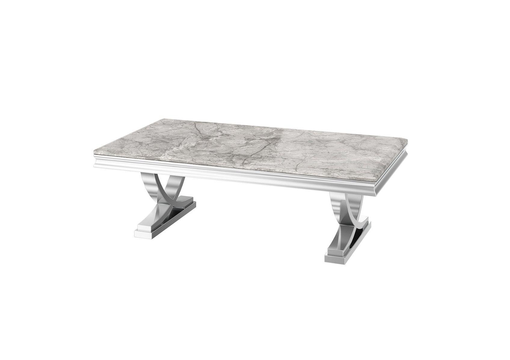 coffee table chrome based grey marble top coffee table marbaya furniture range