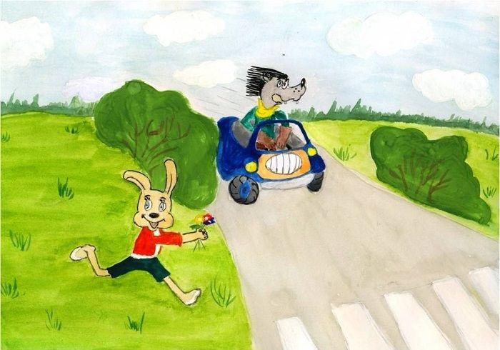 мультгерои на дороге рисунок каждому товару раздела