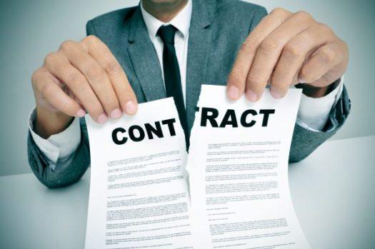 契約書を破棄するイメージ画像