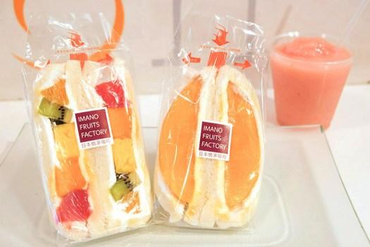 「イマノフルーツファクトリー」のフルーツサンドとスムージー