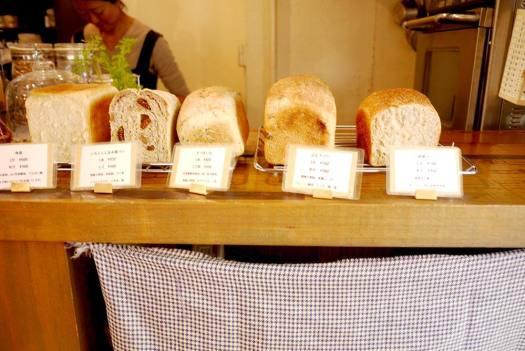 「CAFÉ TERVE!」のパンの陳列