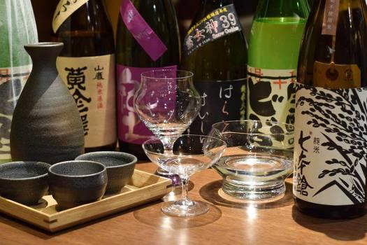 Bistro NOHGAで使用されている酒器と日本酒