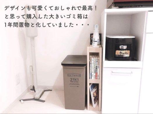 のんが教える一人暮らしのはじめ方! 実はいるもの・いらないもの 前編 意外といらないもの「大きいゴミ箱」