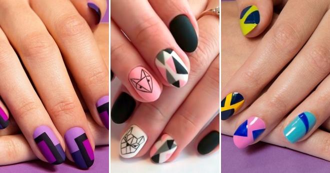 дизайн ногтей геометрия животные 2