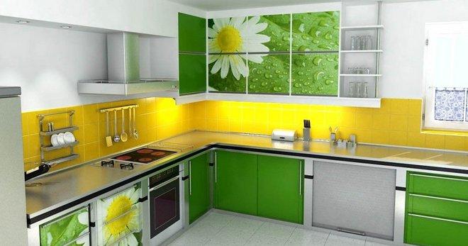 кухня в зеленых тонах дизайн фото 5