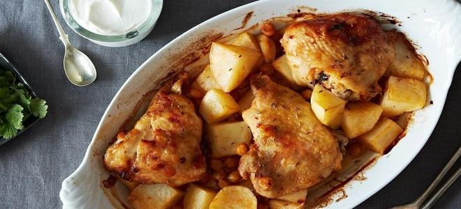 Mikrodalgada patatesli tavuk