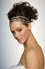 greek hair style with ribbon