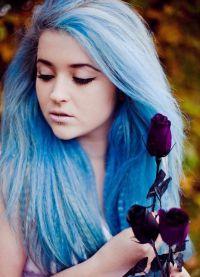 голубые волосы10