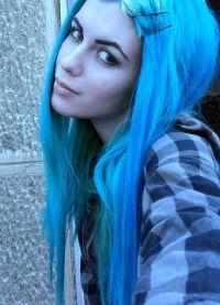 голубые волосы5