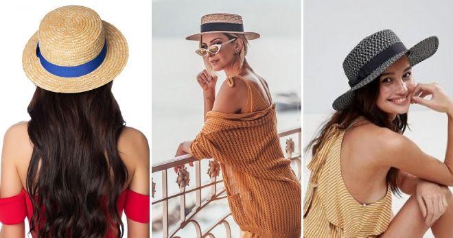Moda cappello di paglia moda