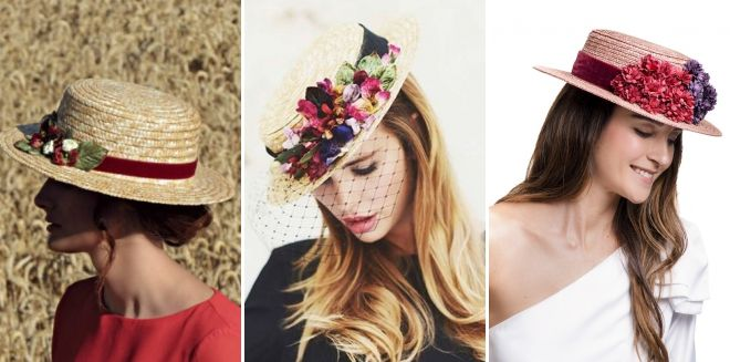 Cappello con il design dei fiori