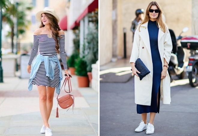 what dresses can be worn with sneakers