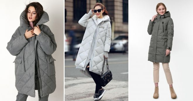 Gray down jacket-cocoon