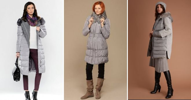 What to combine gray down jacket