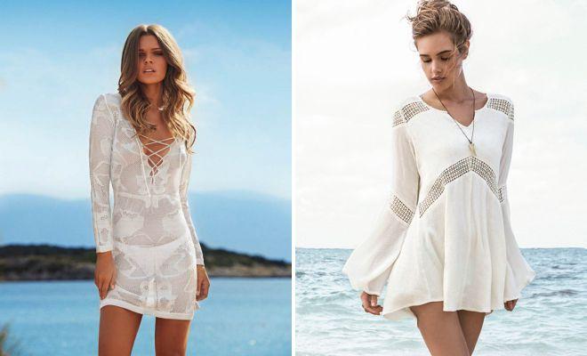 beach wedding dress tunic