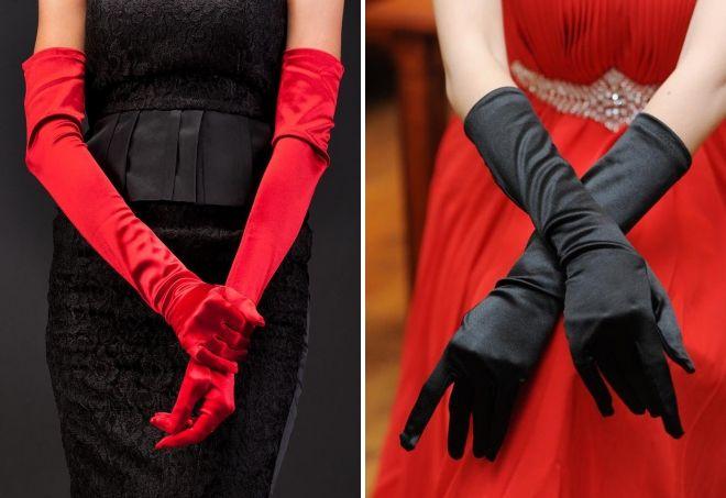 silk long gloves