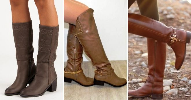 What to wear with brown leather boots.