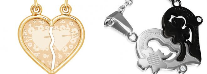 pendant heart for two