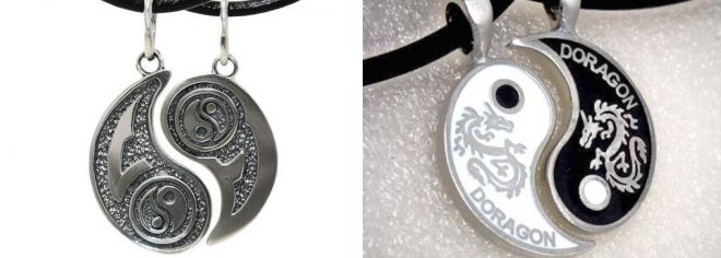 pendant yin and yang for two