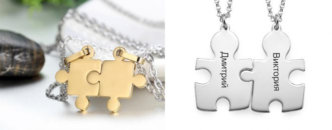 pendants halves for lovers