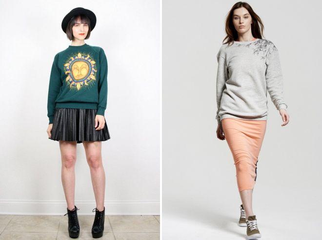 sweatshirt with skirt