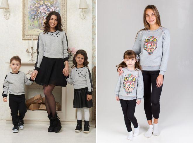 sweatshirts family bow