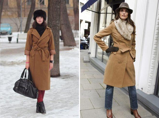 hat under the classic coat