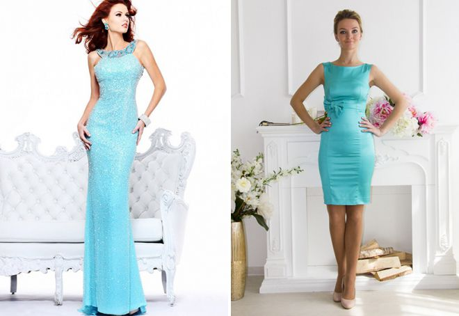 dress in tiffany color