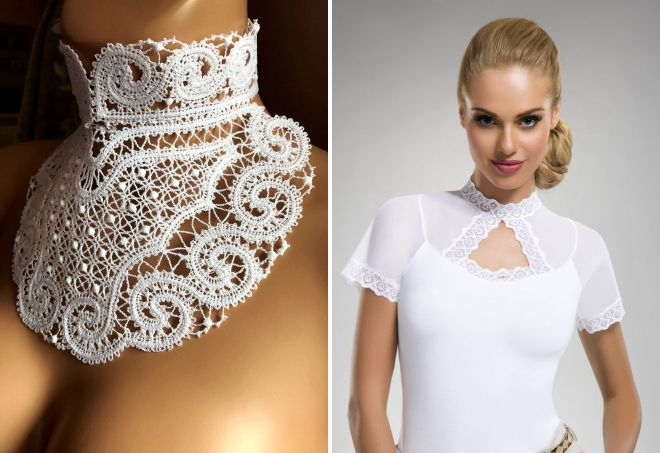 lace stand collar