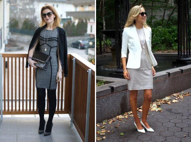 15c00f41c2 Tak napríklad aj tie najbežnejšie sivé šaty s čiernymi členkovými topánkami  a jednoduchá kožená taška urobia štýlový vzhľad pre prechádzky alebo  každodenné ...