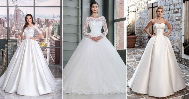 Luxurious wedding dresses 2019 white