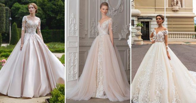 Luxurious wedding dresses 2019 pink