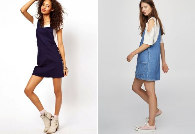 jeans dress with t-shirt