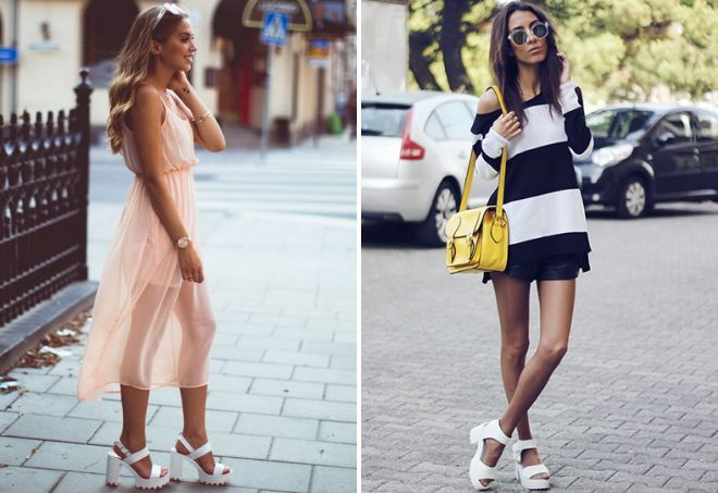 what to wear with thick soled sandals