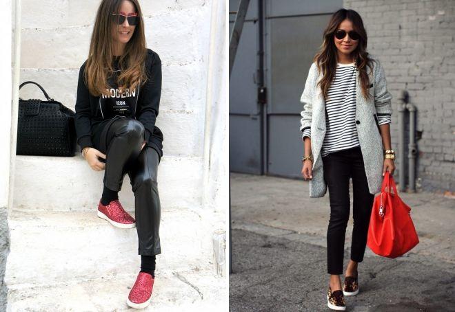 women's slipona with trousers