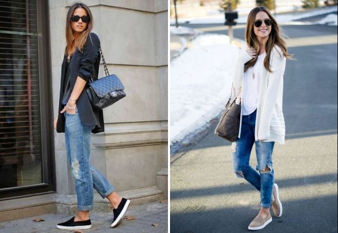 what to wear with slip-ons to girls