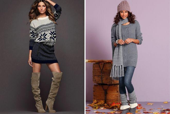 knitted dress tunic