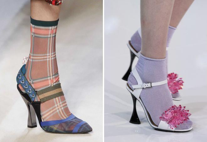 sandals on socks trend of this season