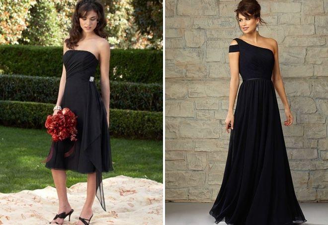black wedding dress as a guest