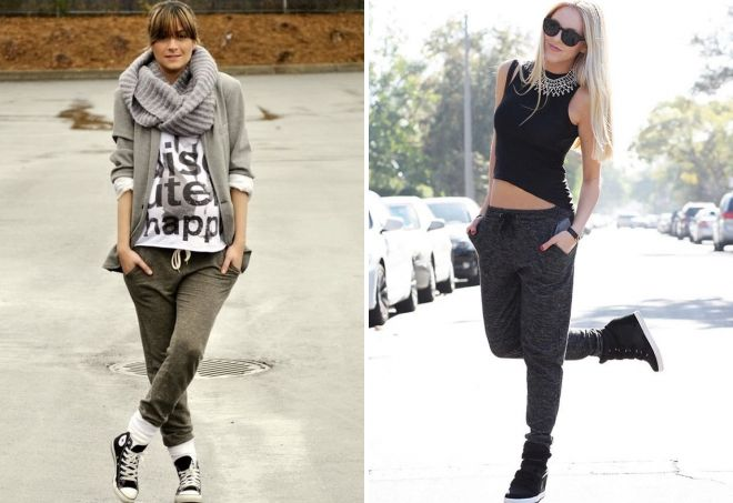 joggers with sneakers