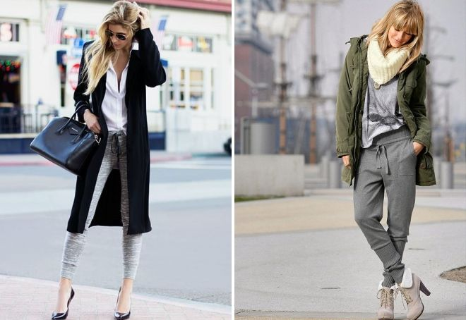 what to wear with gray joggers