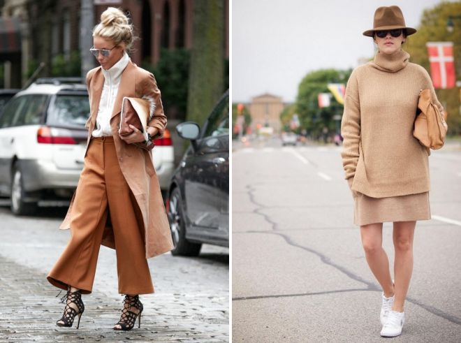 Camel color in clothes