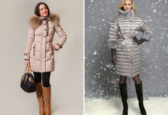 what to wear with a fitted down jacket to the knees